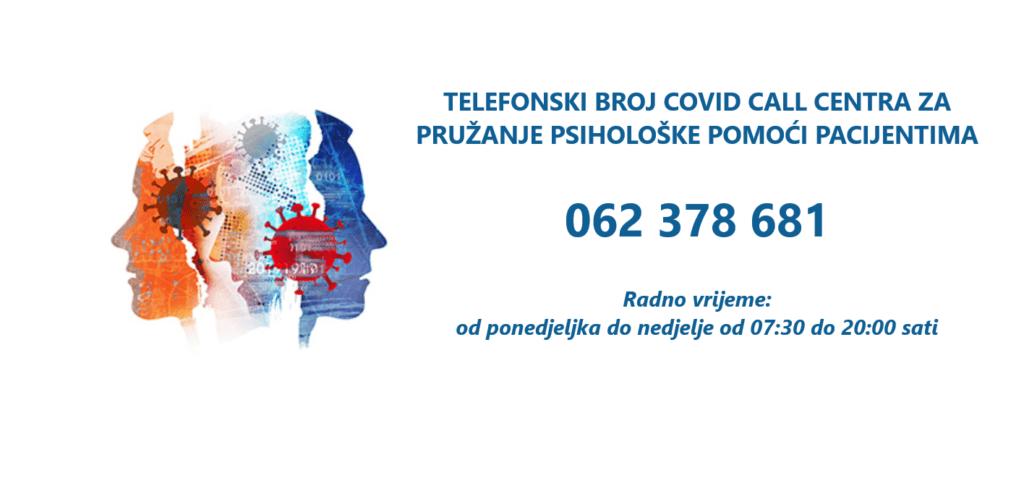 COVID CALL CENTAR ZA PSIHOLOŠKU POMOĆ 062 378 681